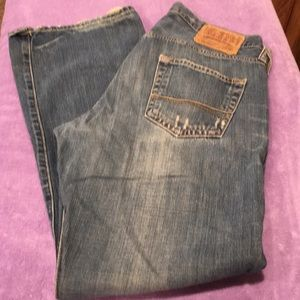 A&F men's distressed jeans